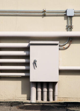 conduit: electrical steel box with conduit pipe connection