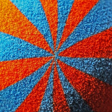 orange and blue sponge texture