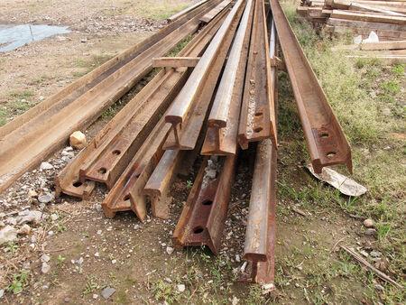 corode: Old corroded railway steel beam
