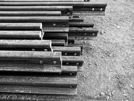 i beam: I-beam steel for railway in monotone color