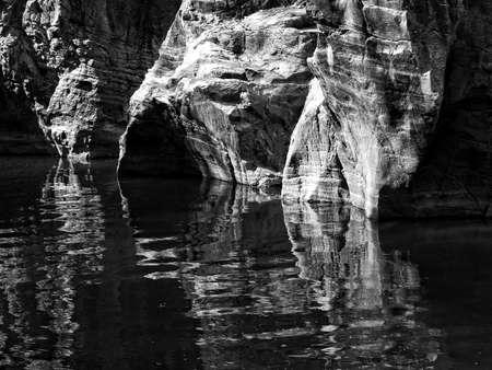 corrode: layer of corrode mountain rock,monotone color background Stock Photo