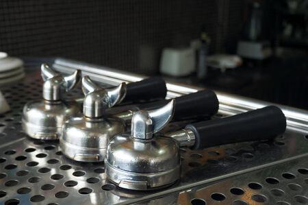 hot temper: Portafiler en m�quina de caf� expreso