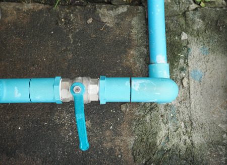 pvc pipe line system with ball valve