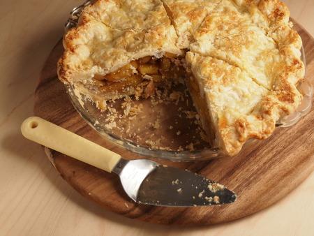 persimmon: Persimmon honey pie, homemade bakery Stock Photo
