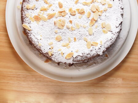 torte: Chocolate almond torte, homemade bakey