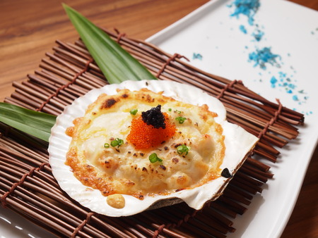 Baked Scallops with Cheese recipe photo