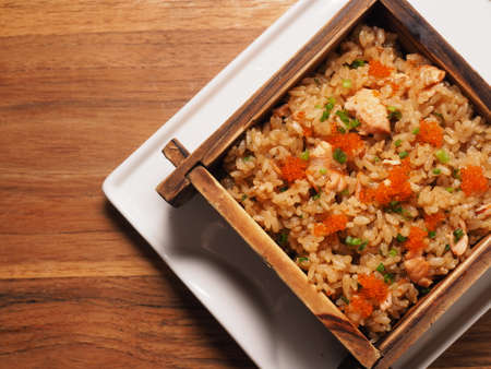 chinese meal: Fried rice with soil sauce
