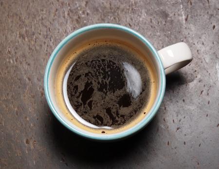 Cup of hot fresh espresso coffee