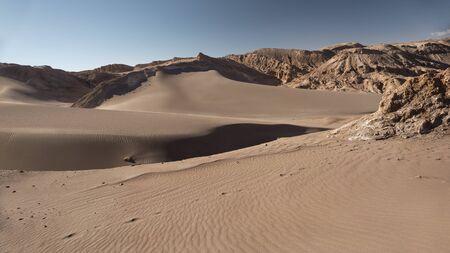 Panoramic view of the Moon Valley at Atacama desert