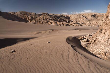 Rocks in Atacama desert. The Moon Valley.