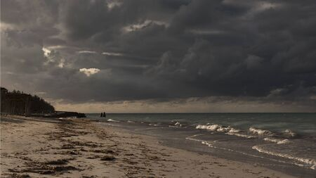 Stormy weater on the caribbean sea