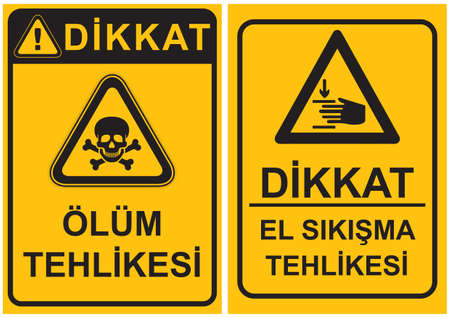 occupational: Occupational Safety and Health Signs Illustration
