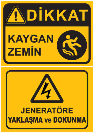 Occupational Safety and Health Signs Vector