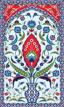 Ottoman Motifs Background Vettoriali