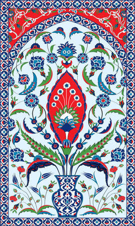 Ottoman Motifs Background 矢量图像