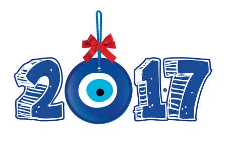 Gelukkig Nieuwjaar 2017 Typografie