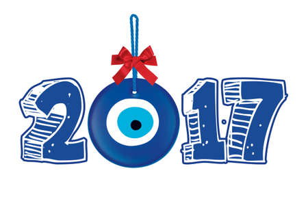 scraping: Happy New Year 2017 Typography