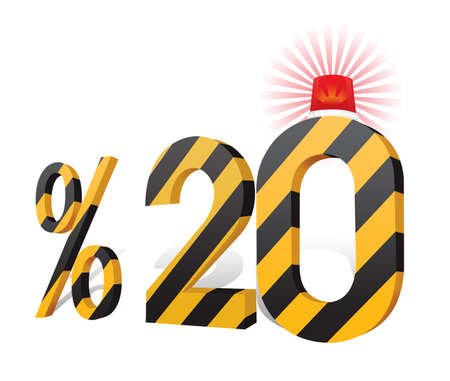Turkish Discount Scale Percentage Stock Photo