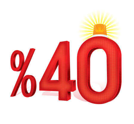 the percentage: Turkish Discount Scale Percentage Stock Photo