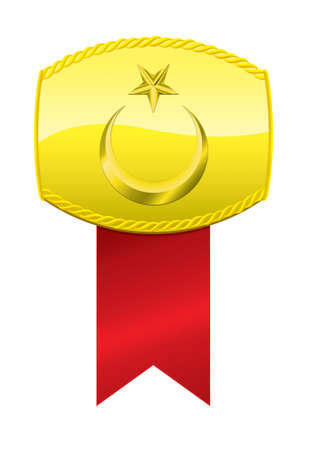Turkish Flag Golden Medallion.