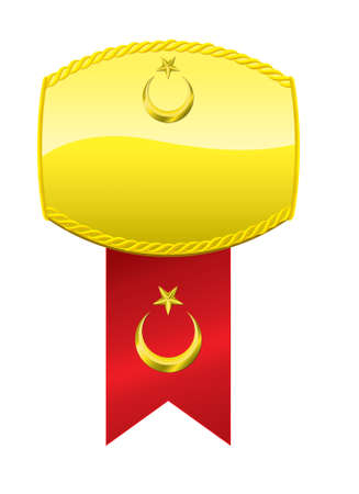 turkish flag: Turkish Flag Golden Medallion.