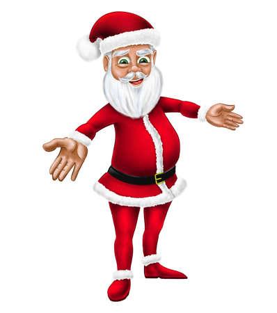 farther: Cartoon Santa Claus Christmas New Year Holiday Character Illustration Stock Photo