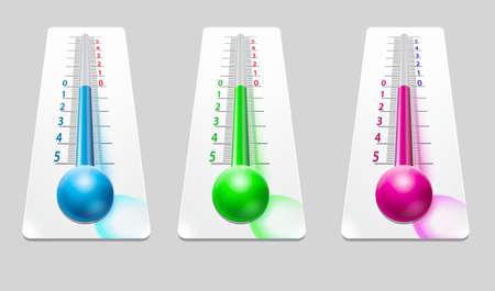 illustration: Thermometer illustration. Stock Photo