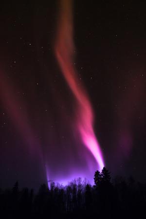 Northern lights in Lapland. Aurora Borealis Stock Photo