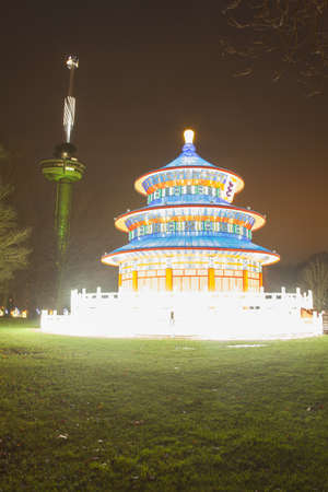 euromast: Lanterns made for the Chinses Light festival in Rotterdam