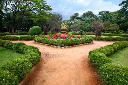 karnataka: Beautiful view of Lalbagh botanical garden in Bangalore, Karnataka, India