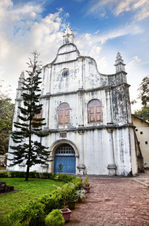 kochi: St Francis church where Vasco da gama was buried in Kochi, Kerala, India