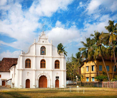 kochi: Portuguese colonial Church of Our Lady of Hope, Nossa Senhora de Esperanca on Vypeen Island, Kochi, Kerala, India