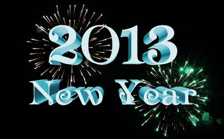 2013 new year celebration with fireworks Stock Photo - 13844813