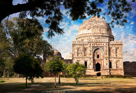 new delhi: Lodi Garden and the tomb of Mohammed Shah in New Delhi, Uttar Pradesh, India