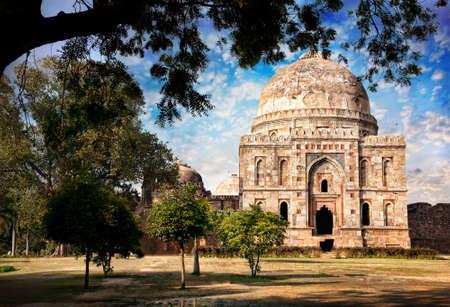 pradesh: Lodi Garden and the tomb of Mohammed Shah in New Delhi, Uttar Pradesh, India
