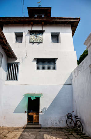 kerala culture: Jewish synagogue with clock in Mattancherry, Kochin, Kerala, India