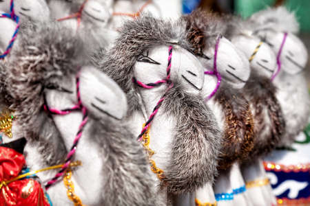 issyk kul: Camel toy souvenirs at the market in central Asia