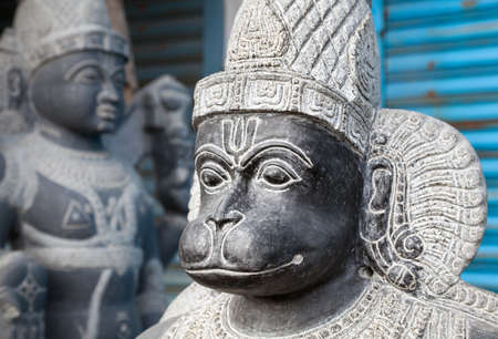 mamallapuram: Hanuman monkey god statue in the Mamallapuram market, Tamil Nadu, India