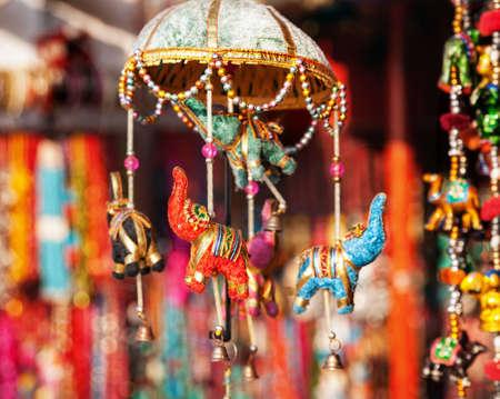 Decorative elephants in Anjuna flea Market, Goa, India  photo