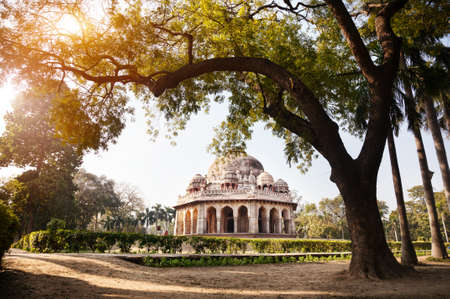 new delhi: Mohammed Shahs tomb in Lodi Garden, New Delhi, India Stock Photo