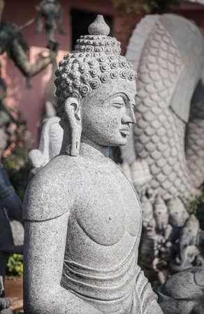 mamallapuram: Buddha statue in Mamallapuram, Tamil Nadu, India Stock Photo