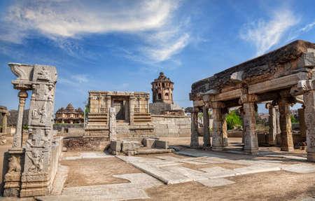 古代遺跡ハンピ、カルナータカ州、インドのロイヤル ・ センター 写真素材