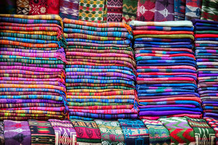 Tibetan yak wool blankets in the shop of Thamel market in Kathmandu, Nepal    photo