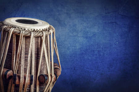 Tabla drum Indian classical music instrument close up