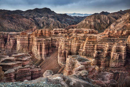 Charyn grand canyon and mountains in Kazakhstan