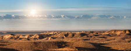 tyan shan: Charyn canyon and mountains in Kazakhstan