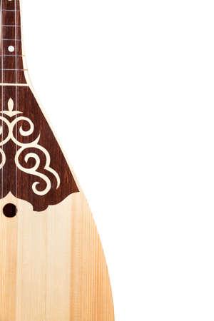 kazakh: Dombra Kazakh instrument isolated on white background Stock Photo