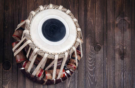 percussion: Tabla drum Indian classical music instrument close up Stock Photo