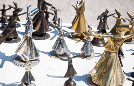 Souvenir of whirling Sufi from metal in the shop, Turkey