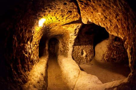 Derinkuyu cave city in Cappadocia Turkey